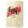 Love Never Fails anniversary or wedding card- 1 Corinthians 13:8