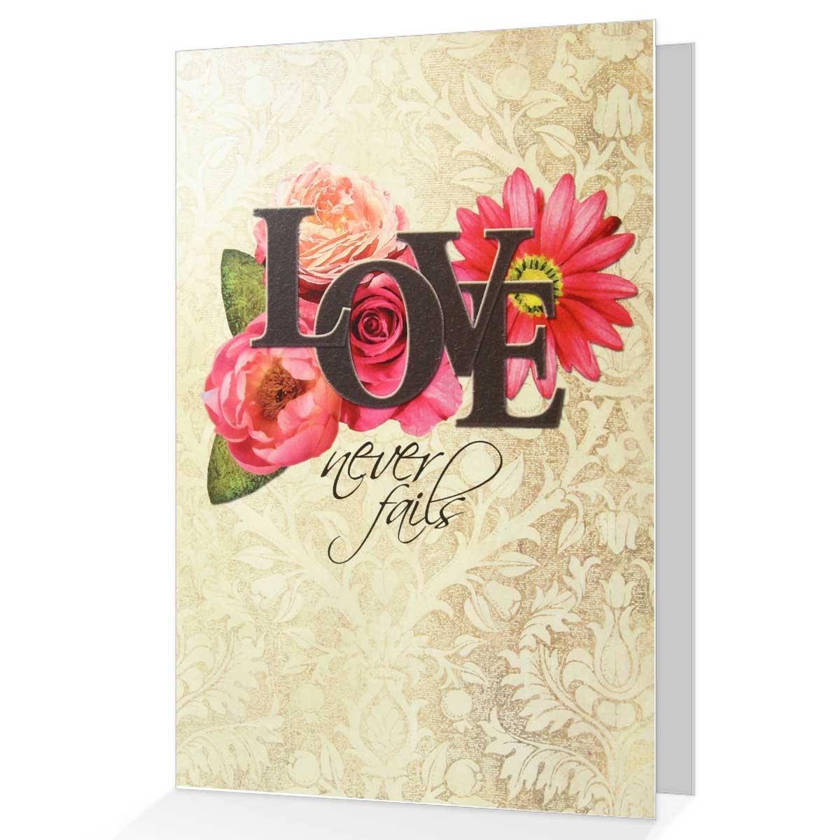 1 Corinthians 13 Wedding Invitations: Wedding & Anniversary Greeting Card