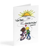 A true friend - Illustrated Greeting Card