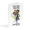 Love never fails - Illustrated Greeting Card
