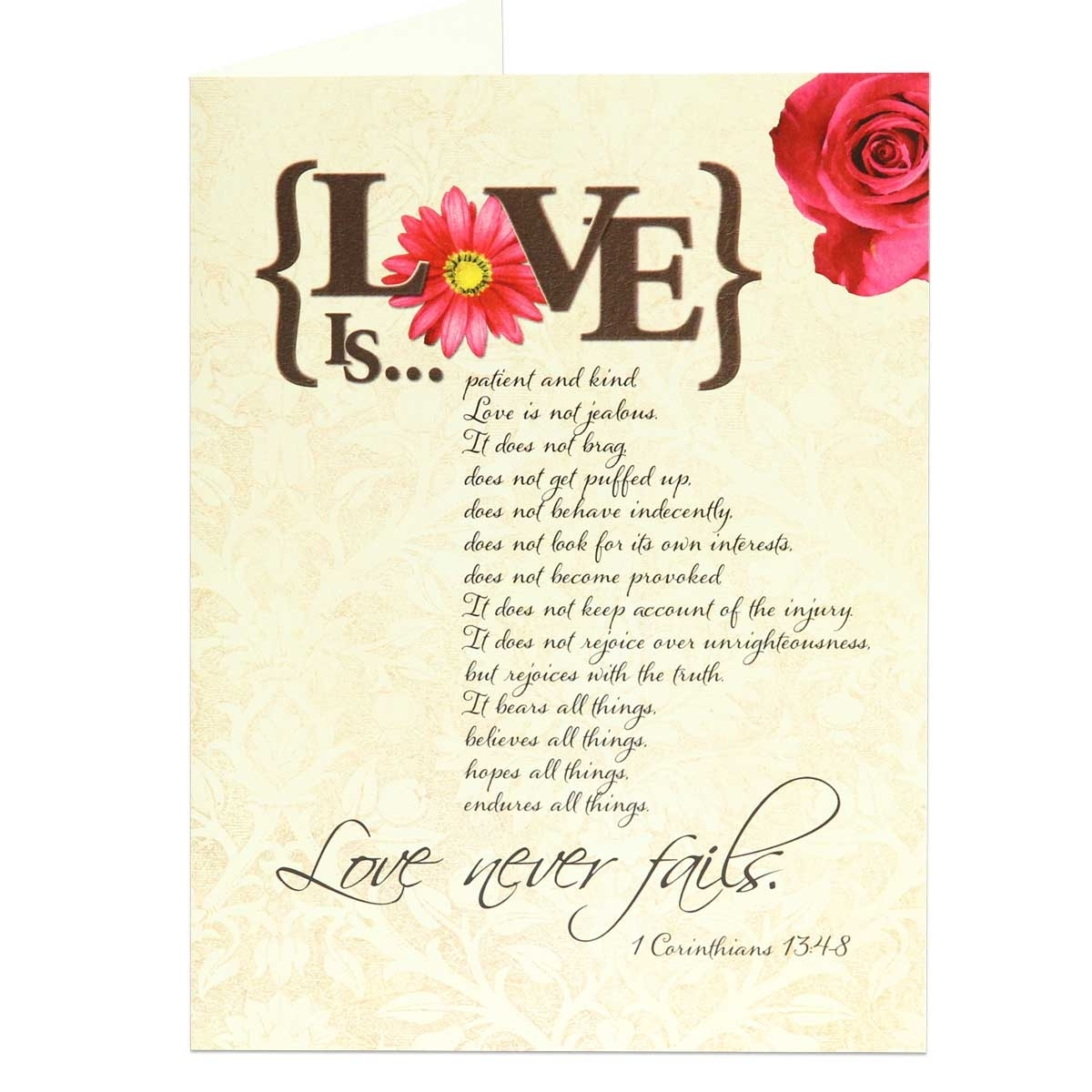 Anniversary greeting card scriptural anniversary congratulations happy anniversary greeting card based on 1 corinthians 134 view larger photo email m4hsunfo