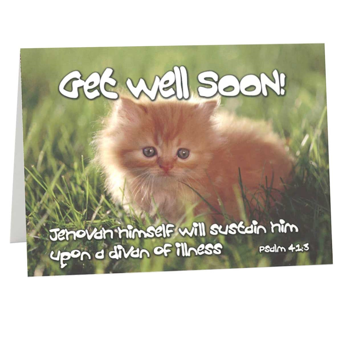 get well greeting card encouraging bible greeting card