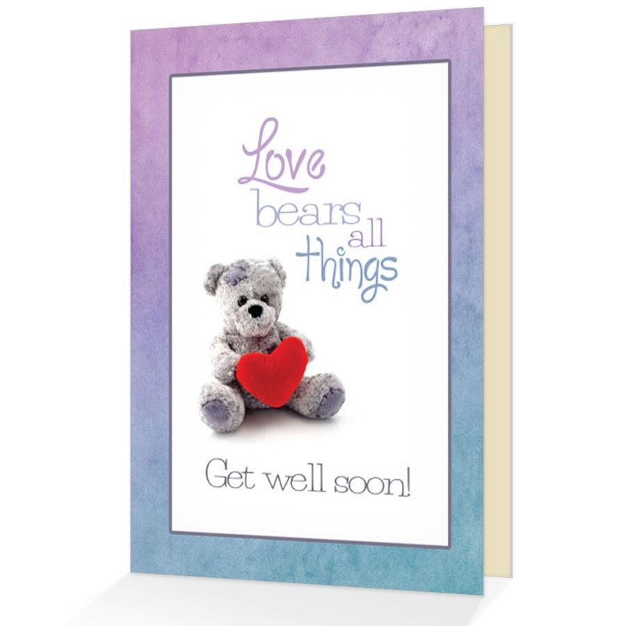 Get Well Greeting Card Encouraging Get Well Greeting Card