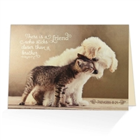 Friendship greeting card based on Proverbs 18:24