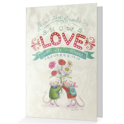 Friendship greeting card based on Proverbs 17:17