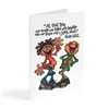 laughter and a joyful shout - Illustrated Greeting Card
