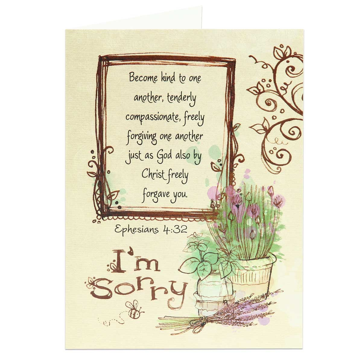 Scriptural apology greeting card im sorry card im sorry religious greeting card based on ephesians 432 altavistaventures Choice Image