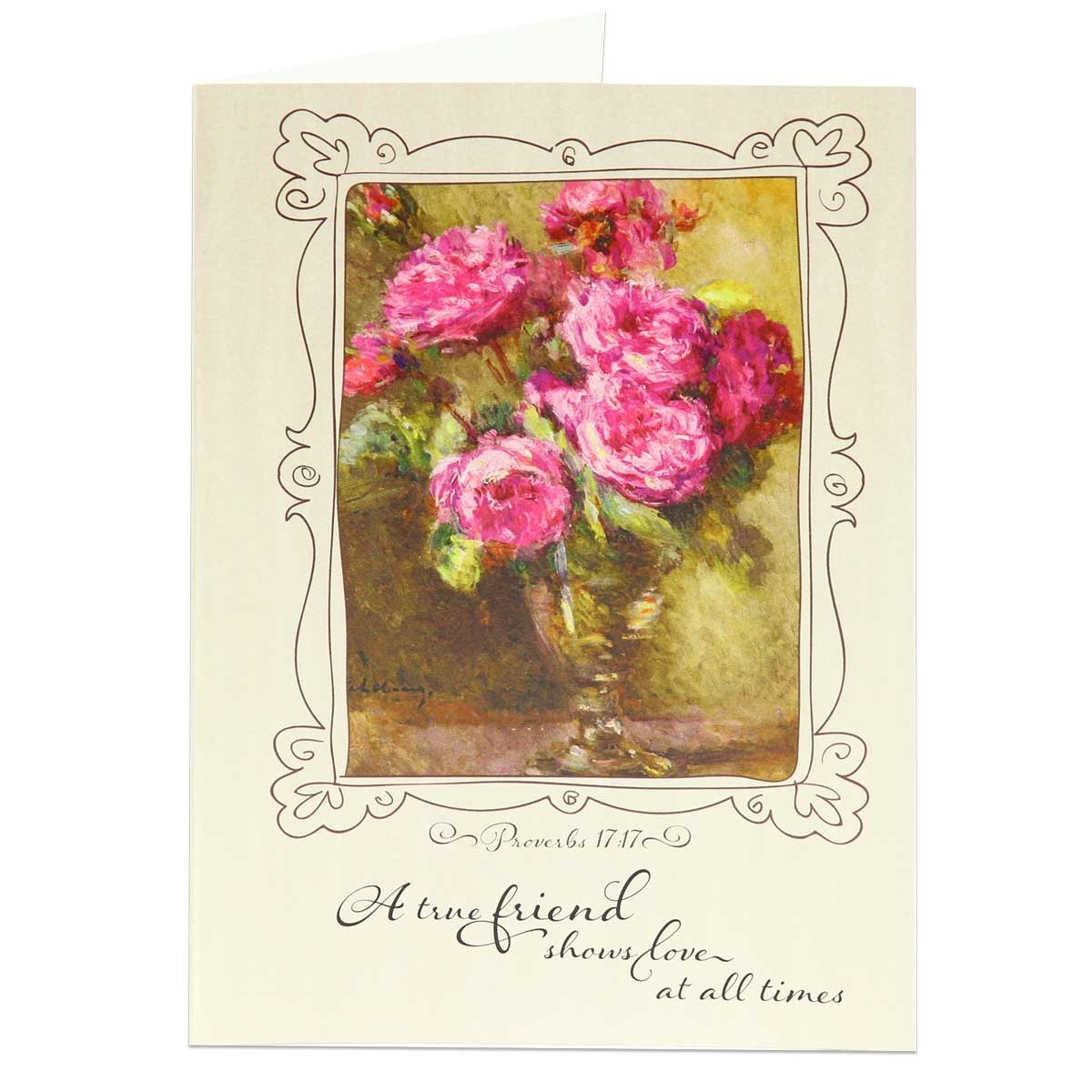 proverbs 17 17 greeting card friendship greeting cards
