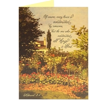 The one who constructed all things is God, Hebrews 3:4 scriptural greeting card