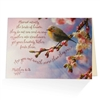 When it is difficult to come up with just the right words, our biblical greeting cards say it all. Based on Matthew 6:26