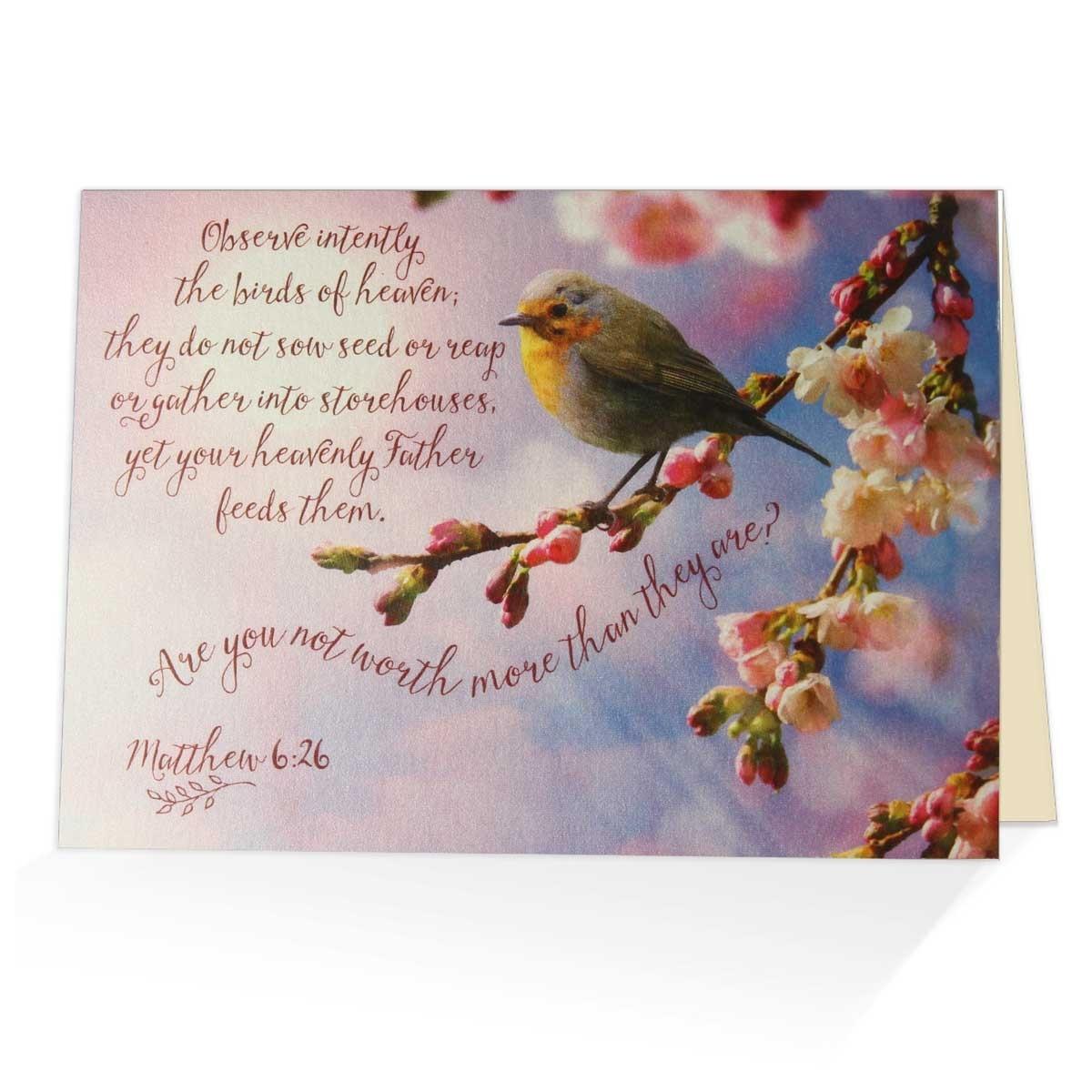 Matthew 626 Greeting Card Biblical Encouragement Card
