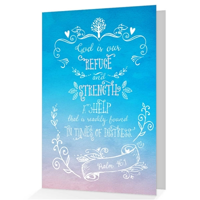 When it is difficult to come up with just the right words, our biblical greeting cards say it all. Based on Psalm 46:1