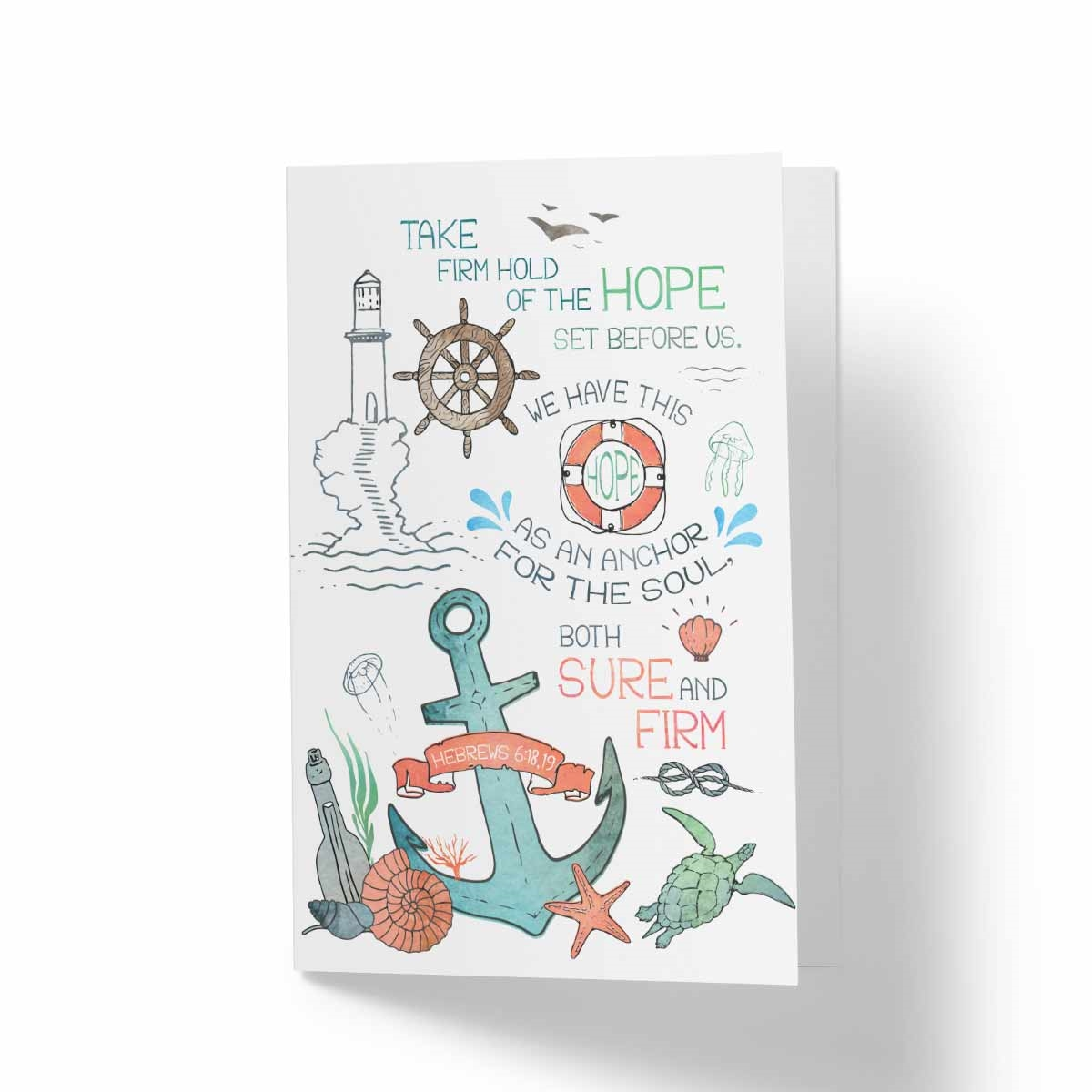 Hope is an anchor greeting card biblical hope encouragement card view larger photo email kristyandbryce Image collections