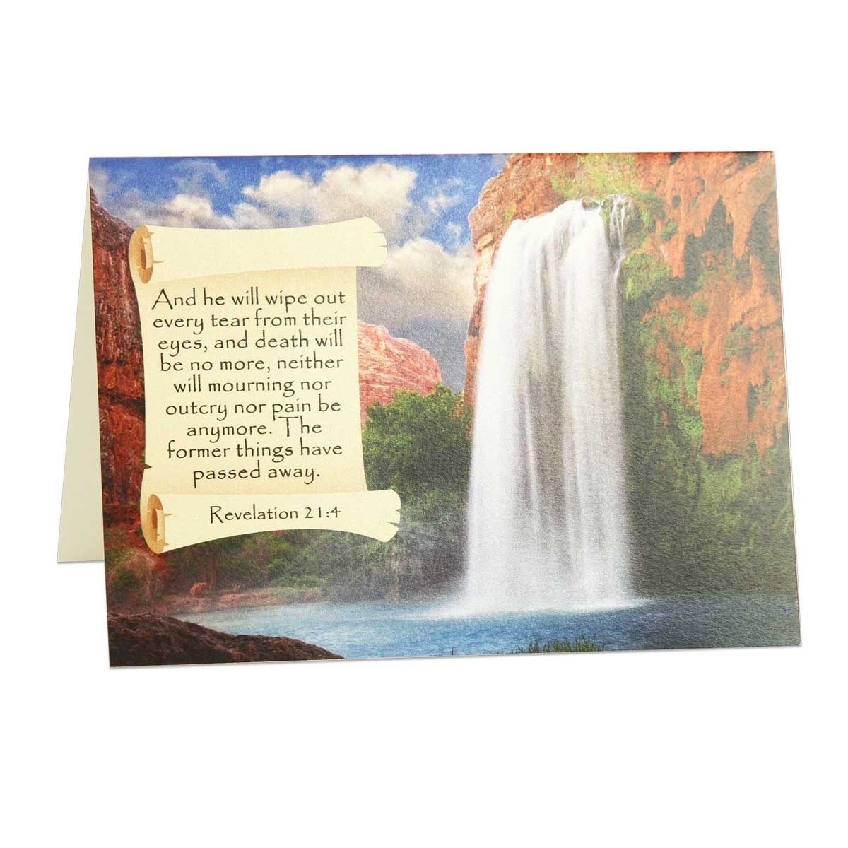 Spiritual Comfort From The Bible Condolence Greeting Card