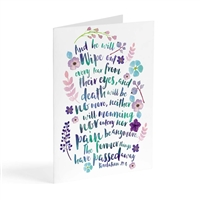 Comforting Greeting Card - He Will Wipe Out Every Tear