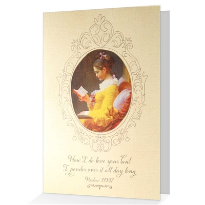 When it is difficult to come up with just the right words, our biblical greeting cards say it all. Based on Psalm 119:97