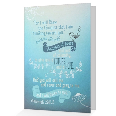 A Future And A Hope' Biblical Greeting & Encouragement Card