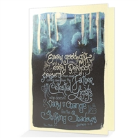 Give an Encouraging Greeting Card based on James 1:17