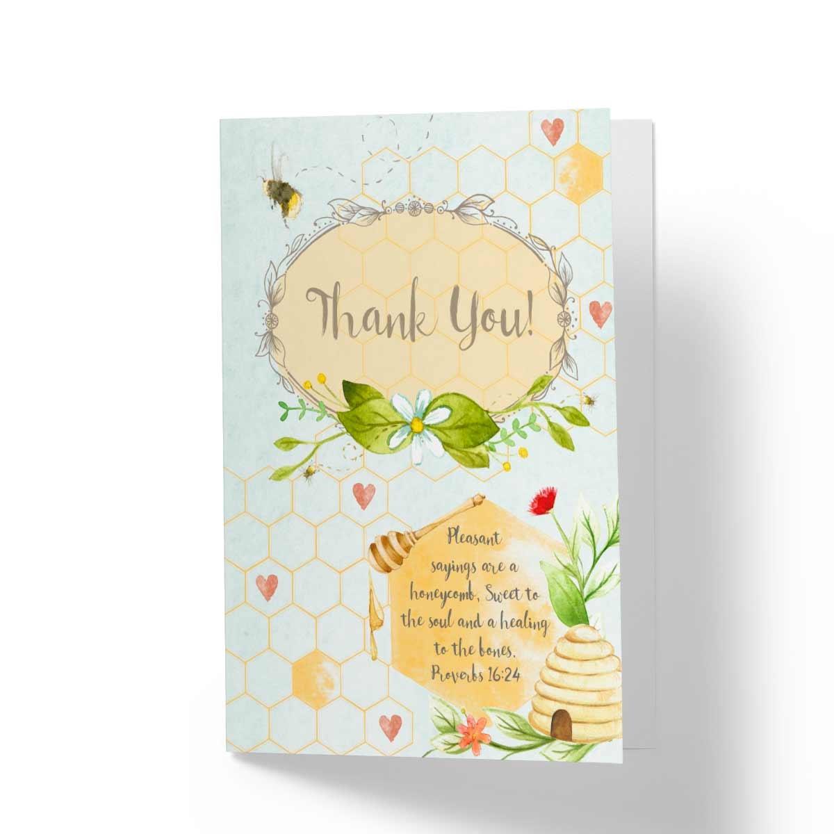 Thank You Pleasant Sayings Biblical Greeting Card