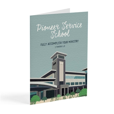 A greeting cards specifically designed for those attending pioneering school