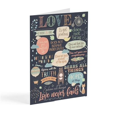 Love Never Fails - Scriptural Greeting Card
