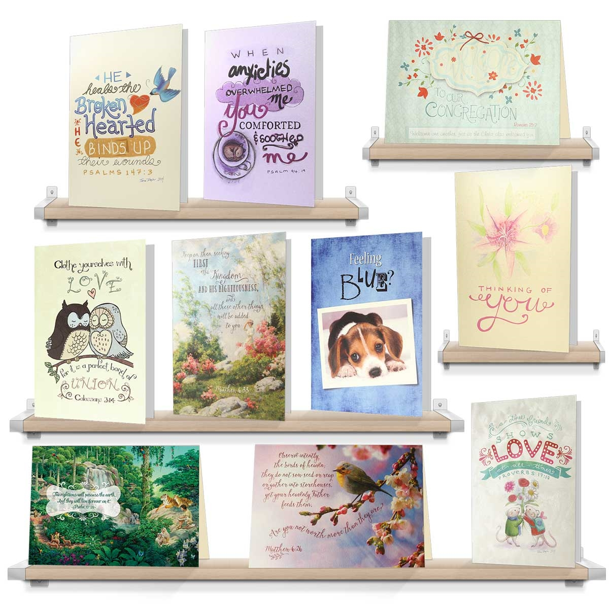 Christian Greeting Card Set Bible Text Greeting Cards
