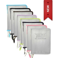 Clear Vinyl zipper Cover/Protector For Sing Out Joyfully to Jehovah