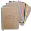 Clear Vinyl Zipper Cover with colored trim for New World Translation Bible Study Edition