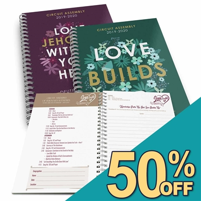 *NEW!* - 2019/2020 - *2-in-1* NOTE TAKER for - LOVE Builds Up & LOVE Jehovah - CIRCUIT Assemblies (with talk titles on each page)