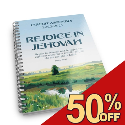 "2020/2021 - *2-in-1* NOTE TAKER for - ""Make Jehovah's Heart Rejoice!"" and ""Rejoice In Jehovah"" - CIRCUIT Assemblies (with talk titles on each page)"