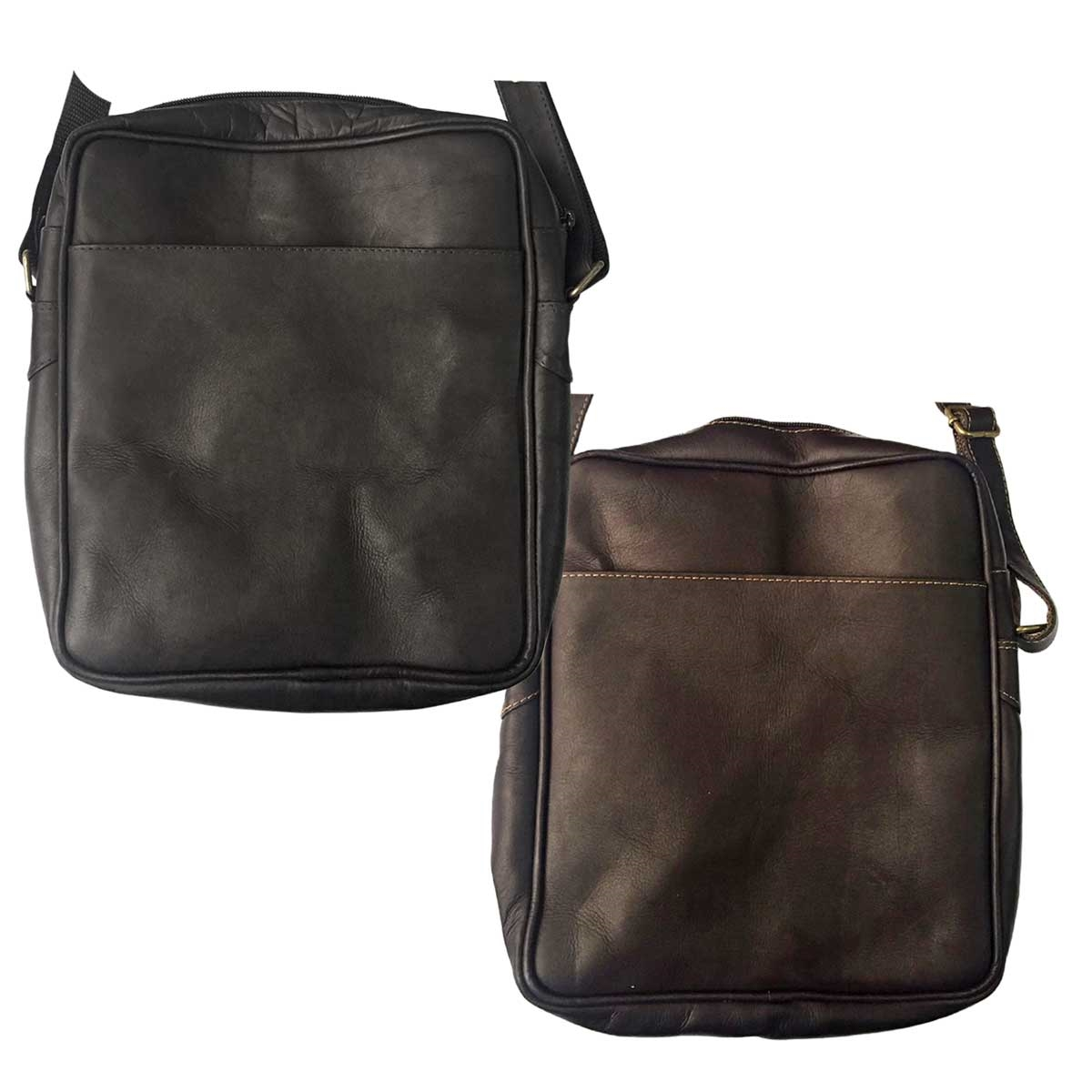 Leather Cross-Body Courier & Messenger Bag for Men & Women