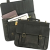 Leather Laptop Briefcase Brief Case