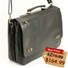 Leather Laptop Briefcase for Men