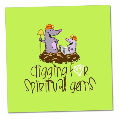 Fun 'Digging for Spiritual Gems' magnet for Jehovah's Witnesses