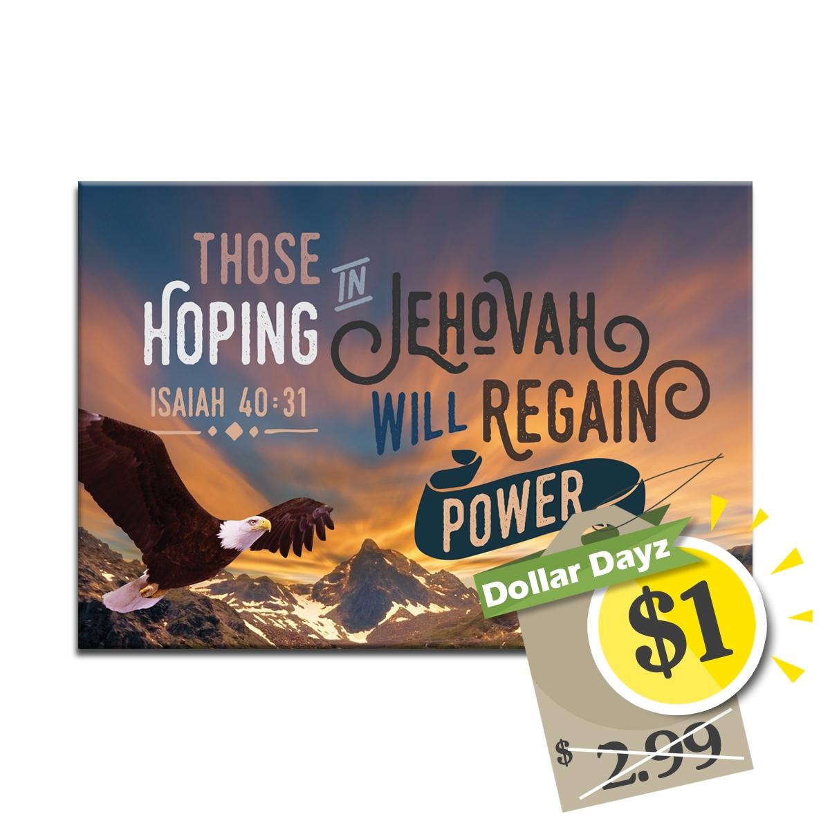 2018 Yeartext fridge magnet: Isaiah 40:31 (postcard size)