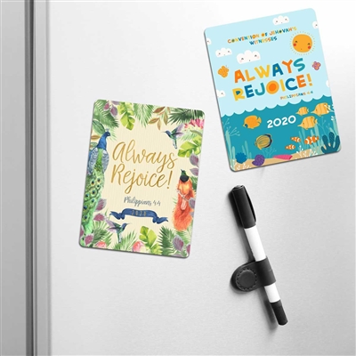 2020 convention fridge MAGNET for Jehovah's Witnesses Features the 2020 convention theme
