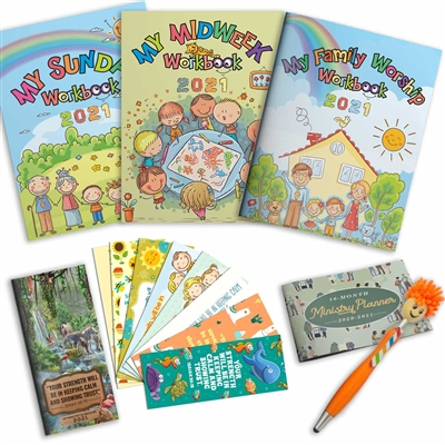 Jehovahs Witness Kids Supplies - Meeting Bundle 7 in 1 Pack