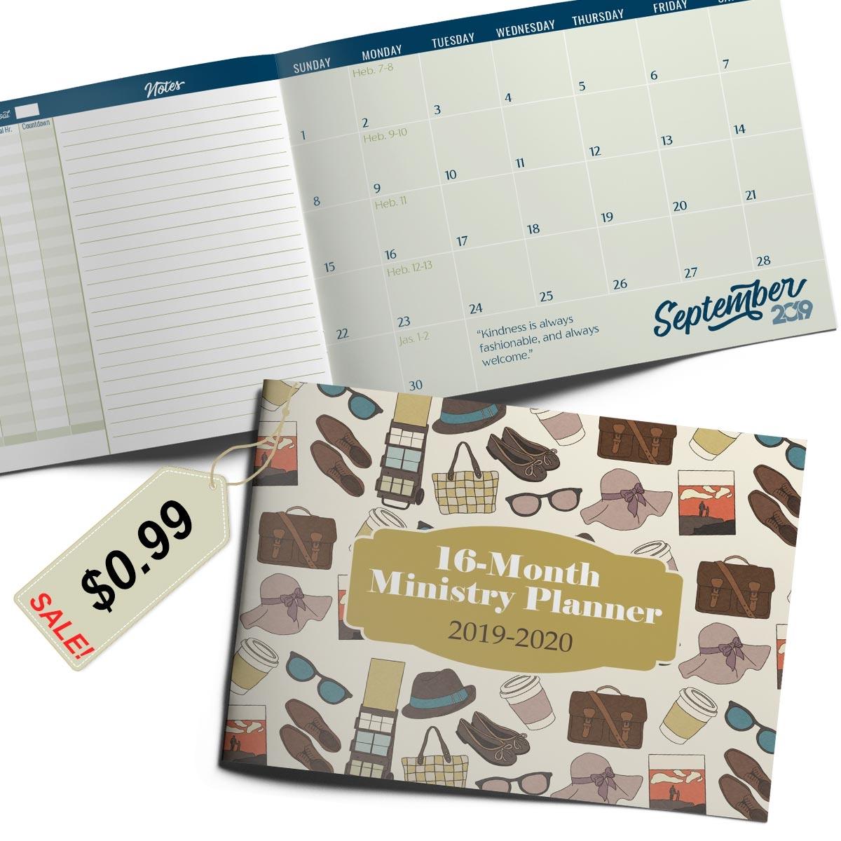 2019-2020 Pocket Calendar for Jehovah's Witnesses