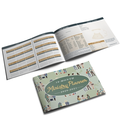 2020 - 2021 POCKET PLANNER for Jehovah's Witnesses - (2 Sizes - Optional Protective Cover)