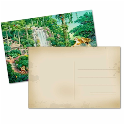Jungle Paradise Blank Postcard for Letter Witnessing- Pack of 24