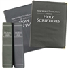 for LARGE PRINT BIBLE (NO Zipper): SLIP-ON Cover for New World Translation - with FOIL STAMPED Title - *Select colors available  (fits ENGLISH edition)