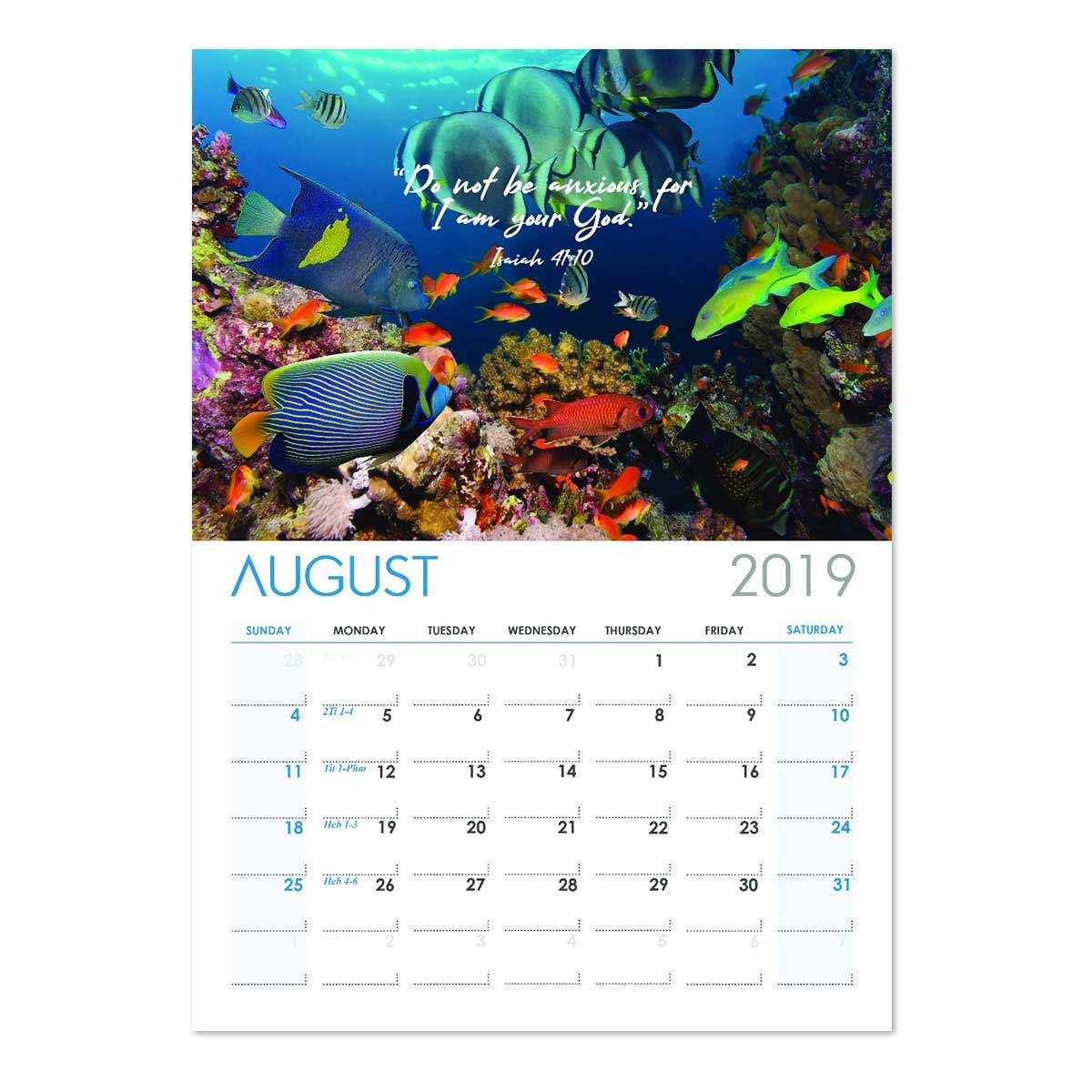 2019 JW Bible Reading Wall Calendar featuring Jehovah's Creation