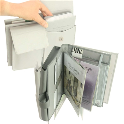 Compact Tract & Magazine Service Briefcase Folio for Public Witnessing