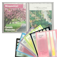 New Watchtower Magazine & Tract Display Folio with Vinyl Pockets