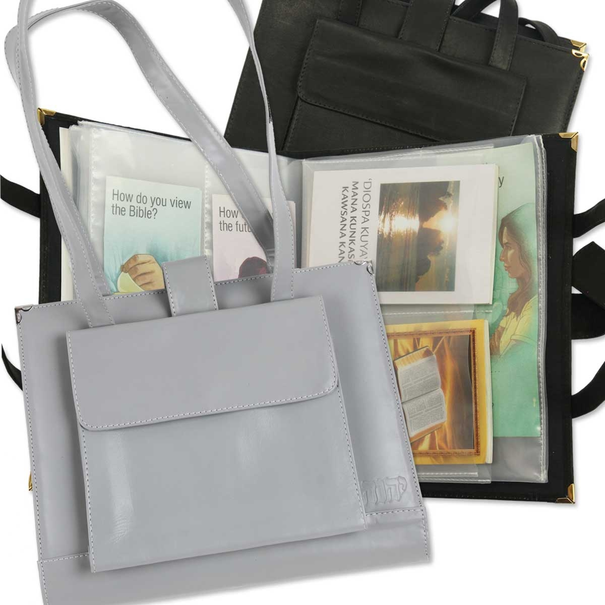 magazine and tract tote for jehovahs witnesses
