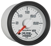 "Auto Meter Factory Match Fuel Pump Pressure Gauges are 2 1/16"" (52.4mm) in size, digital stepper motor type gauge, and display 0-30psi"