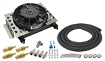 Derale - 15 Row Atomic Cool Plate & Fin Remote Transmission Cooler Kit, -6AN