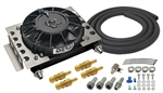 Derale - 15 Row Atomic Cool Plate & Fin Remote Transmission Cooler Kit, -8AN