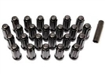 Black Splined Lug Nut Kit with Key