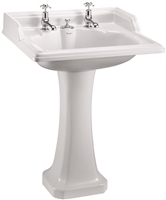 Burlington Classic 65cm Basin with Invisible Overflow and Pedestal